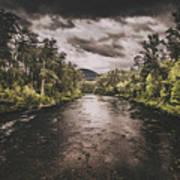 Dark River Woods Art Print