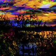 Dark Shadowy Sunset Art Print