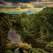 Dark Skies Over The Avon Art Print