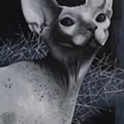 Darkness Cat Art Print