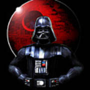 Darth Vader And Death Star Art Print