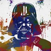 Darth Vader Paint Splatter Art Print