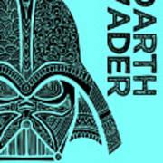 Darth Vader - Star Wars Art - Blue Art Print