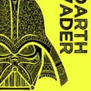 Darth Vader - Star Wars Art - Yellow Art Print