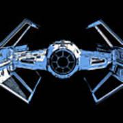 Darth Vaders Tie Figher Advanced X1 Tee Art Print