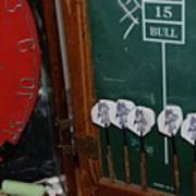 Darts And Board Art Print