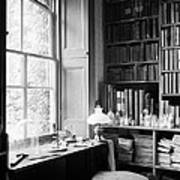Darwins Study And Microscope, Down House Art Print