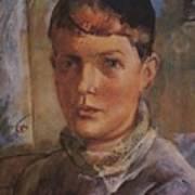 Daughter Of The Artist 1933 Kuzma Sergeevich Petrov-vodkin Art Print