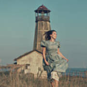 Daughter Of The Lighthouse Keeper Art Print