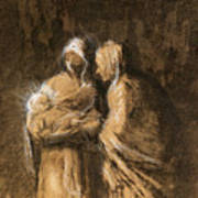 Daumier: Virgin & Child Art Print