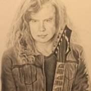 Dave Mustaine Art Print