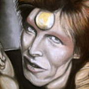 David Bowie As Ziggy Stardust Art Print