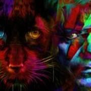 David Bowie - Cat People  Art Print