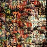 David Bowie Collage Mosaic Art Print