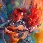 David Bowie In Space Oddity Art Print