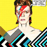 David Bowie Pop Art Art Print