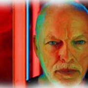 David Gilmour Red,nixo Art Print