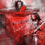 David Lee Roth And Eddie Van Halen Jump Art Print