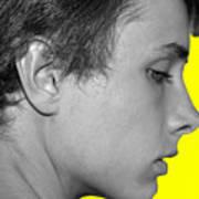 David R On Yellow Art Print
