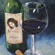 Davinci Chianti For One   Art Print