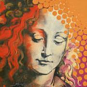 Davinci's Head Art Print