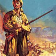 Davy Crockett  Hero Of The Alamo Art Print
