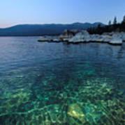 Dawn Arrives At Lake Tahoe  Art Print