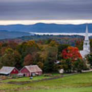 dawn arrives at sleepy Peacham Vermont Art Print