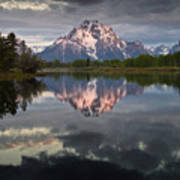 Dawn At Oxbow Bend Art Print