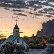 Dawn At The Superstitions Art Print