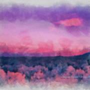 Dawn In Taos In Aquarelle Art Print