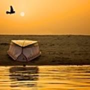 Dawn On The Ganga Art Print