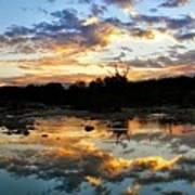 Dawn Over Boerne Creek Art Print