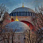 Dawn Over Hagia Sophia Art Print by Joan Carroll