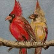 Dawn's Cardinals Art Print