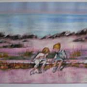 Day At Beach Art Print