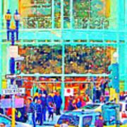 Day Before Christmas At Neiman Marcus . Photoart Art Print