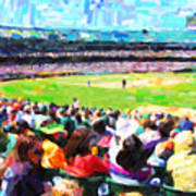 Day Game At The Old Ballpark Art Print