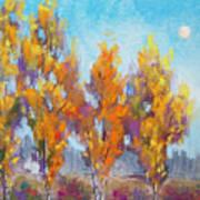 Day Lit Moon Art Print by Christine Camp