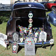 Day Of The Dead Classic Car Trunk Display  Art Print