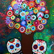 Day Of The Dead Love Offering Art Print