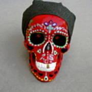 Day Of The Dead Skulls-biker Dude Art Print
