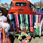 Day Of The Dead Truck Decorations  Art Print