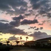 Daybreak Sky In Florida Art Print