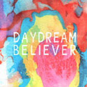 Daydream Believer- Abstract Art By Linda Woods Art Print