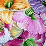 Daylillies Art Print