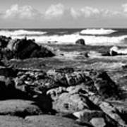 Dazzling Monterey Bay B And W Art Print
