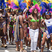 Dc Caribbean Carnival No 11 Art Print by Irene Abdou