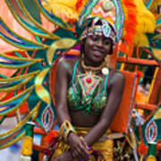 Dc Caribbean Carnival No 17 Art Print by Irene Abdou