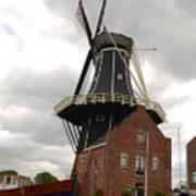 De Adriann Windmill - Haarlem The Netherlands Art Print
